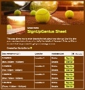 Tennis Game sign up sheet