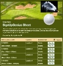 Golf Tournament sign up sheet
