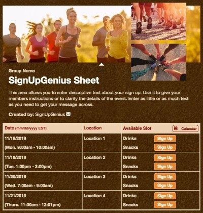 running runners fitness workouts marathon 5k trainings brown sign up form