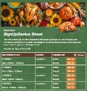 Thanksgiving Meal sign up sheet