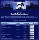 Nativity Scene sign up sheet