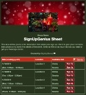 Advent Season sign up sheet