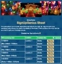 Holiday Lights sign up sheet