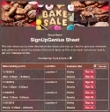 Bake Sale Goods sign up sheet