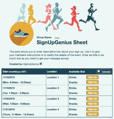 running races exercises training fitness 10k 5k marathon sign up form