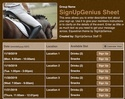 Equestrian sign up sheet