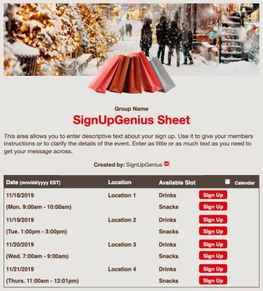 christmas presents shopping store gifts holidays sign up form