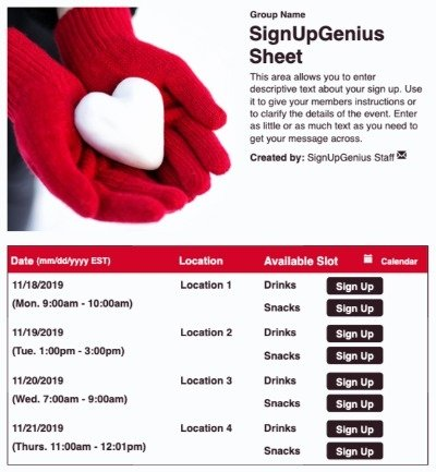 helping hands hearts love giving give serve serving fundraiser fundraising sign up form