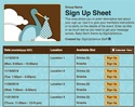 Baby Stork sign up sheet