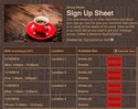 Coffee 2 sign up sheet