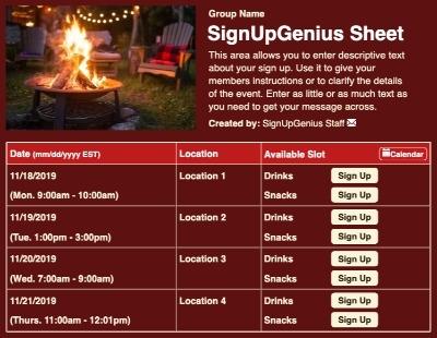 backyard firepit fireplace party bonfire outdoor sign up form