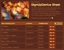 Fall Leaves sign up sheet