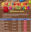 Back to School Time 2 sign up sheet
