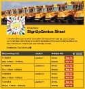 School Bus Ride 2 sign up sheet