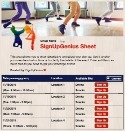 Dance Group sign up sheet