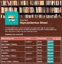 Library Reading Time sign up sheet