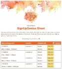 Hello Autumn sign up sheet