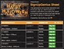 Halloween Fun sign up sheet