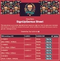 Dia de los Muertos sign up sheet