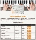 Piano Lessons sign up sheet