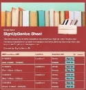 Book Sale sign up sheet