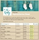 Baby Shower Time sign up sheet