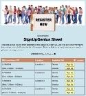 Registration sign up sheet