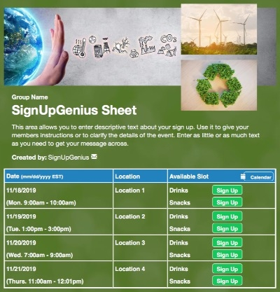 environmental nature recycling recycle earth green turbines wind energy sign up form