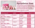 Baby Girl Cookies sign up sheet