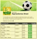 Soccer Team sign up sheet