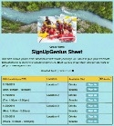 White Water Rafting sign up sheet