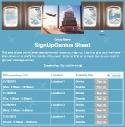 Travel Reservations sign up sheet