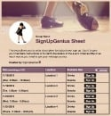 Tap Dance sign up sheet