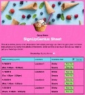 Ice Cream Treat sign up sheet