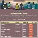 Hiking Group sign up sheet