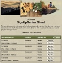 Mountain Climbing sign up sheet
