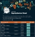 Music Festival sign up sheet