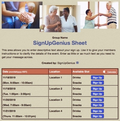 retirement seniors elderly assisted sign up form