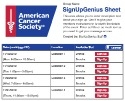 American Cancer Society sign up sheet