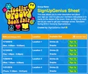 Scholastic Book Fair Spring 2016 2 sign up sheet