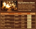 Christmas Candles sign up sheet