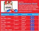 Christmas Donations sign up sheet
