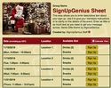 Santa Gifts sign up sheet