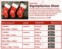 Stockings sign up sheet