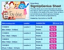 Toy Drive sign up sheet