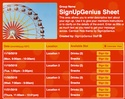 Carnival Ride sign up sheet