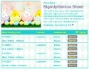 Easter Fun sign up sheet