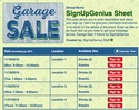 Garage Sale II sign up sheet