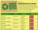 Recycle sign up sheet