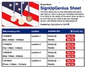 USA Medals sign up sheet